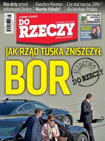 """Okładka tygodnika """"Do Rzeczy"""", wydanie nr 8/2017 (210)"""