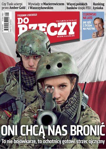"""Okładka tygodnika """"Do Rzeczy"""", wydanie nr 29/2016 (180)"""