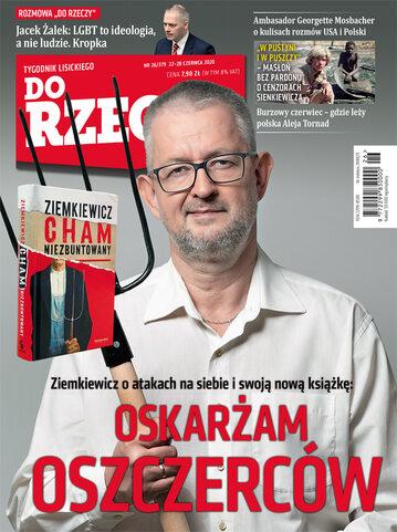 """Okładka tygodnika """"Do Rzeczy"""", wydanie nr 26/2020 (379)"""