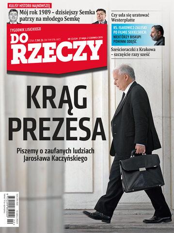"""Okładka tygodnika """"Do Rzeczy"""", wydanie nr 22/2019 (324)"""