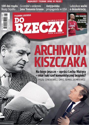 """Okładka tygodnika """"Do Rzeczy"""", wydanie nr 8/2016 (159)"""