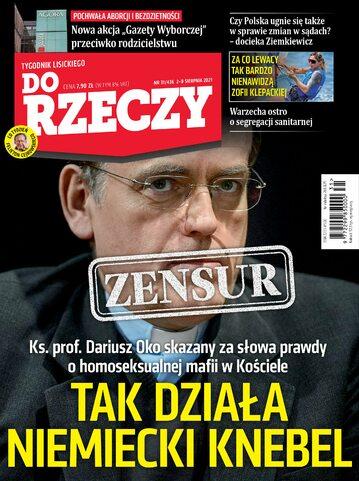"""Okładka tygodnika """"Do Rzeczy"""", wydanie nr 31/2021 (436)"""