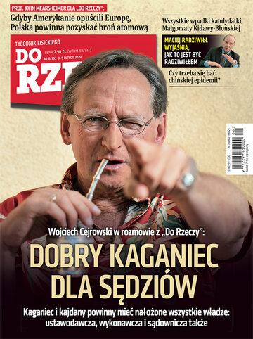 """Okładka tygodnika """"Do Rzeczy"""", wydanie nr 6/2020 (359)"""