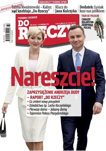 """Okładka tygodnika """"Do Rzeczy"""", wydanie nr 32/2015 (131)"""