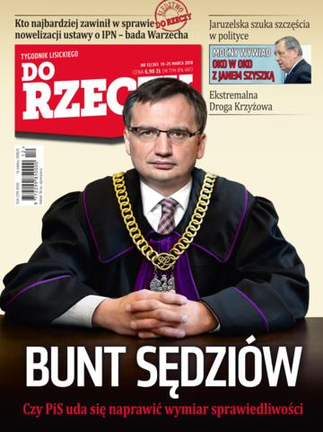 """Okładka tygodnika """"Do Rzeczy"""", wydanie nr 12/2018 (265)"""