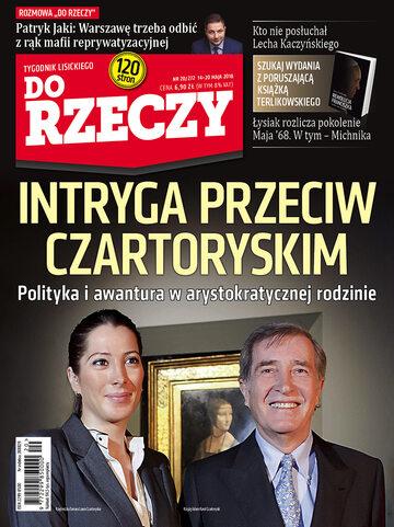 """Okładka tygodnika """"Do Rzeczy"""", wydanie nr 20/2018 (272)"""