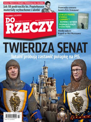 """Okładka tygodnika """"Do Rzeczy"""", wydanie nr 43/2019 (345)"""