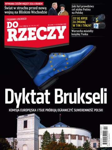 """Okładka tygodnika """"Do Rzeczy"""", wydanie nr 2/2020 (355)"""