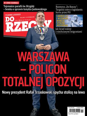 """Okładka tygodnika """"Do Rzeczy"""", wydanie nr 2/2019 (305)"""