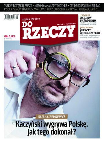 """Okładka tygodnika """"Do Rzeczy"""", wydanie nr 12/2013 (12)"""
