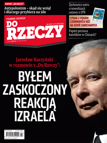 """Okładka tygodnika """"Do Rzeczy"""", wydanie nr 7/2018 (260)"""