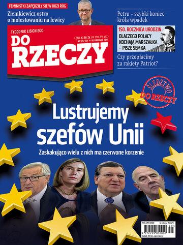 """Okładka tygodnika """"Do Rzeczy"""", wydanie nr 49/2017 (251)"""