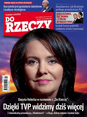 """Okładka tygodnika """"Do Rzeczy"""", wydanie nr 4/2018 (257)"""