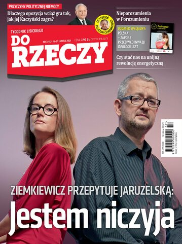 """Okładka tygodnika """"Do Rzeczy"""", wydanie nr 7/2021 (412)"""