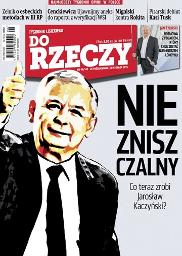 """Okładka tygodnika """"Do Rzeczy"""", wydanie nr 44/2015 (143)"""