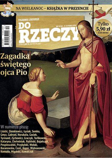 """Okładka tygodnika """"Do Rzeczy"""", wydanie nr 12/2016 (163)"""