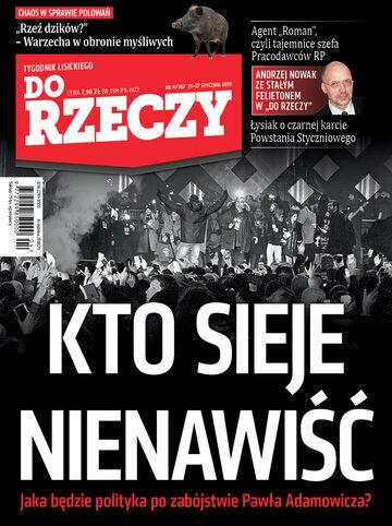 """Okładka tygodnika """"Do Rzeczy"""", wydanie nr 4/2019 (307)"""