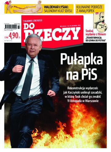 """Okładka tygodnika """"Do Rzeczy"""", wydanie nr 43/2013 (43)"""
