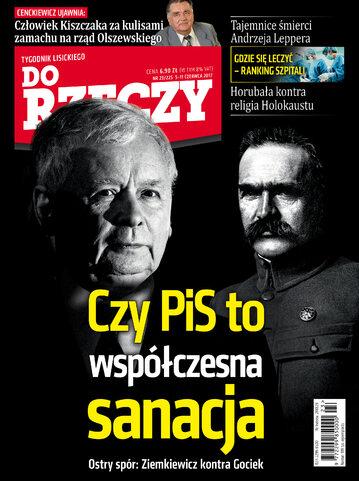 """Okładka tygodnika """"Do Rzeczy"""", wydanie nr 23/2017 (225)"""