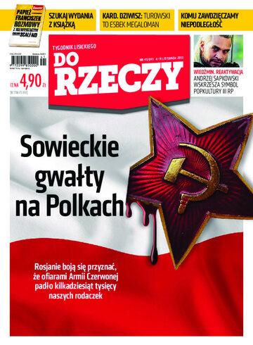 """Okładka tygodnika """"Do Rzeczy"""", wydanie nr 41/2013 (41)"""