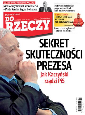 """Okładka tygodnika """"Do Rzeczy"""", wydanie nr 41/2019 (343)"""