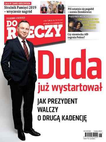 """Okładka tygodnika """"Do Rzeczy"""", wydanie nr 46/2019 (348)"""