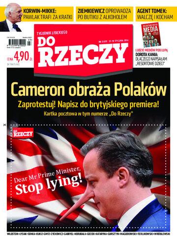 """Okładka tygodnika """"Do Rzeczy"""", wydanie nr 3/2014 (51)"""