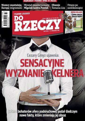 """Okładka tygodnika """"Do Rzeczy"""", wydanie nr 37/2015 (136)"""
