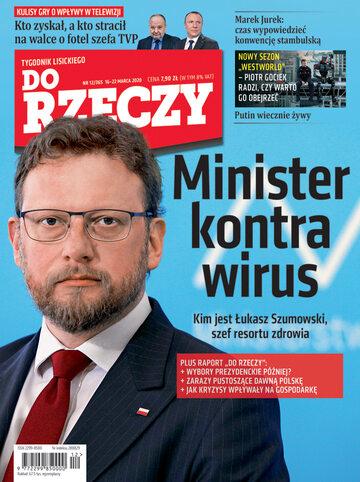 """Okładka tygodnika """"Do Rzeczy"""", wydanie nr 12/2020 (365)"""