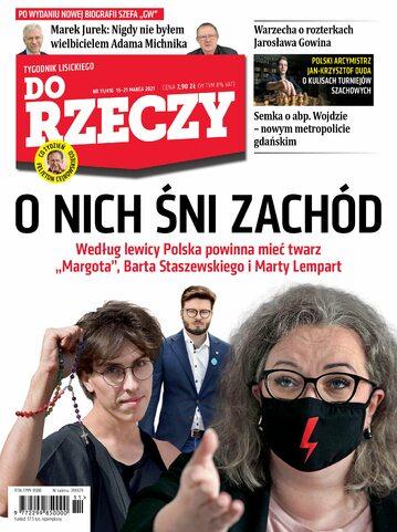 """Okładka tygodnika """"Do Rzeczy"""", wydanie nr 11/2021 (416)"""