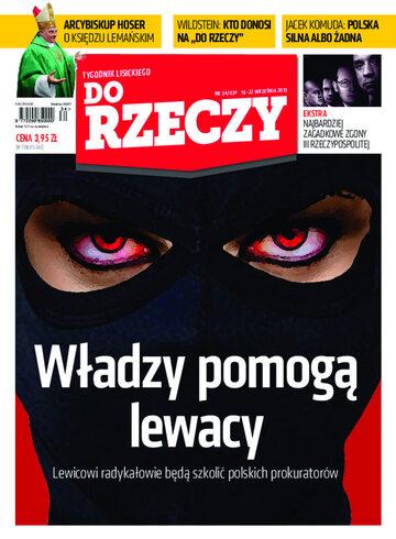 """Okładka tygodnika """"Do Rzeczy"""", wydanie nr 34/2013 (34)"""