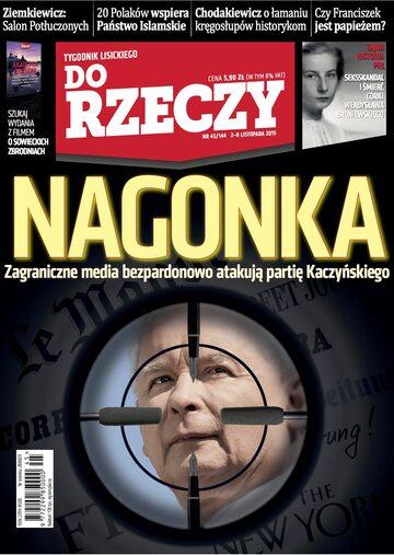 """Okładka tygodnika """"Do Rzeczy"""", wydanie nr 45/2015 (144)"""