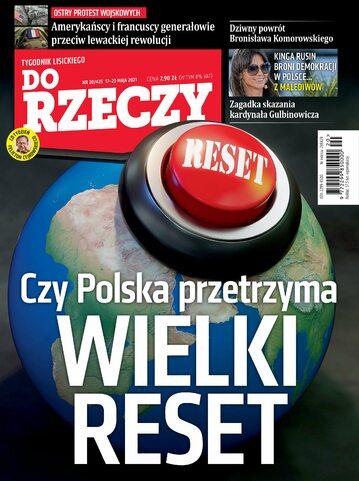 """Okładka tygodnika """"Do Rzeczy"""", wydanie nr 20/2021 (425)"""