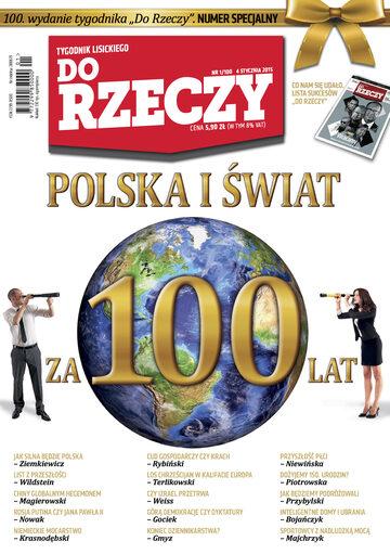 """Okładka tygodnika """"Do Rzeczy"""", wydanie nr 1/2015 (100)"""