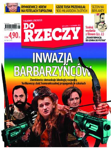 """Okładka tygodnika """"Do Rzeczy"""", wydanie nr 45/2013 (45)"""