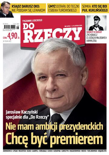 """Okładka tygodnika """"Do Rzeczy"""", wydanie nr 6/2014 (54)"""
