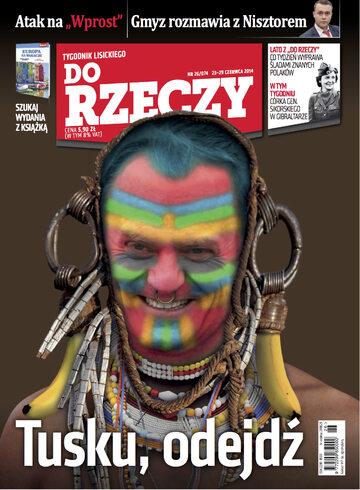 """Okładka tygodnika """"Do Rzeczy"""", wydanie nr 26/2014 (74)"""