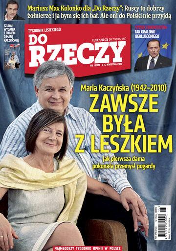 """Okładka tygodnika """"Do Rzeczy"""", wydanie nr 15/2015 (114)"""