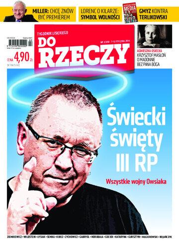 """Okładka tygodnika """"Do Rzeczy"""", wydanie nr 2/2014 (50)"""