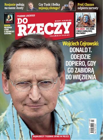 """Okładka tygodnika """"Do Rzeczy"""", wydanie nr 29/2014 (77)"""