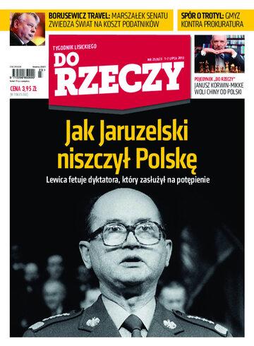 """Okładka tygodnika """"Do Rzeczy"""", wydanie nr 23/2013 (23)"""