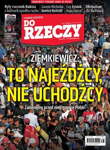 """Okładka tygodnika """"Do Rzeczy"""", wydanie nr 38/2015 (137)"""