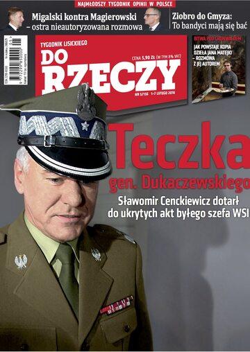 """Okładka tygodnika """"Do Rzeczy"""", wydanie nr 5/2016 (156)"""