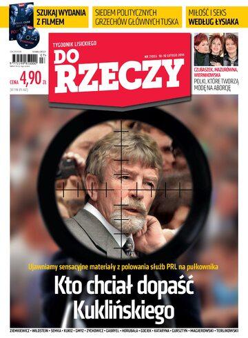 """Okładka tygodnika """"Do Rzeczy"""", wydanie nr 7/2014 (55)"""