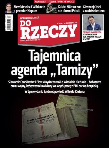 """Okładka tygodnika """"Do Rzeczy"""", wydanie nr 39/2014 (87)"""