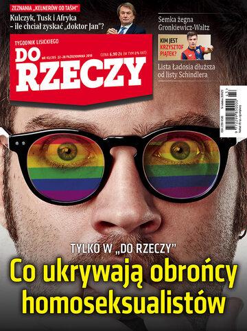 """Okładka tygodnika """"Do Rzeczy"""", wydanie nr 43/2018 (295)"""
