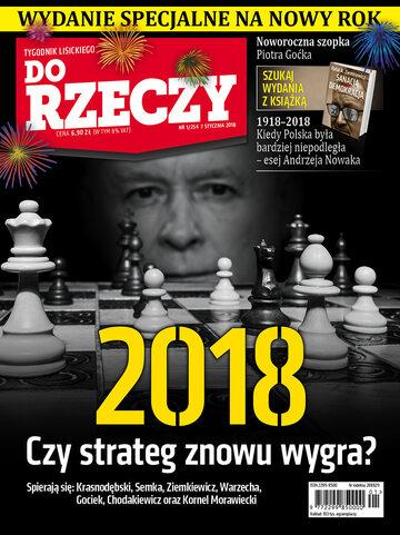 """Okładka tygodnika """"Do Rzeczy"""", wydanie nr 1/2018 (254)"""