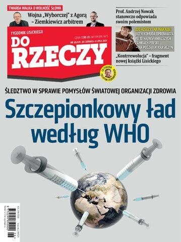 """Okładka tygodnika """"Do Rzeczy"""", wydanie nr 26/2021 (431)"""