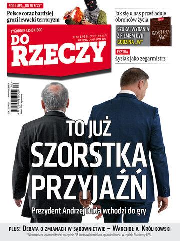 """Okładka tygodnika """"Do Rzeczy"""", wydanie nr 30/2017 (232)"""
