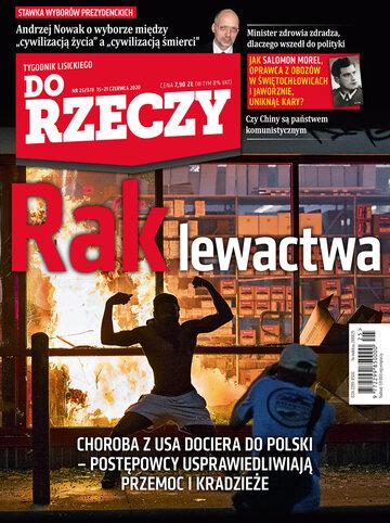 """Okładka tygodnika """"Do Rzeczy"""", wydanie nr 25/2020 (378)"""